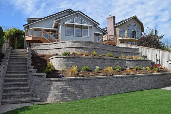 lakefront backyard renovation