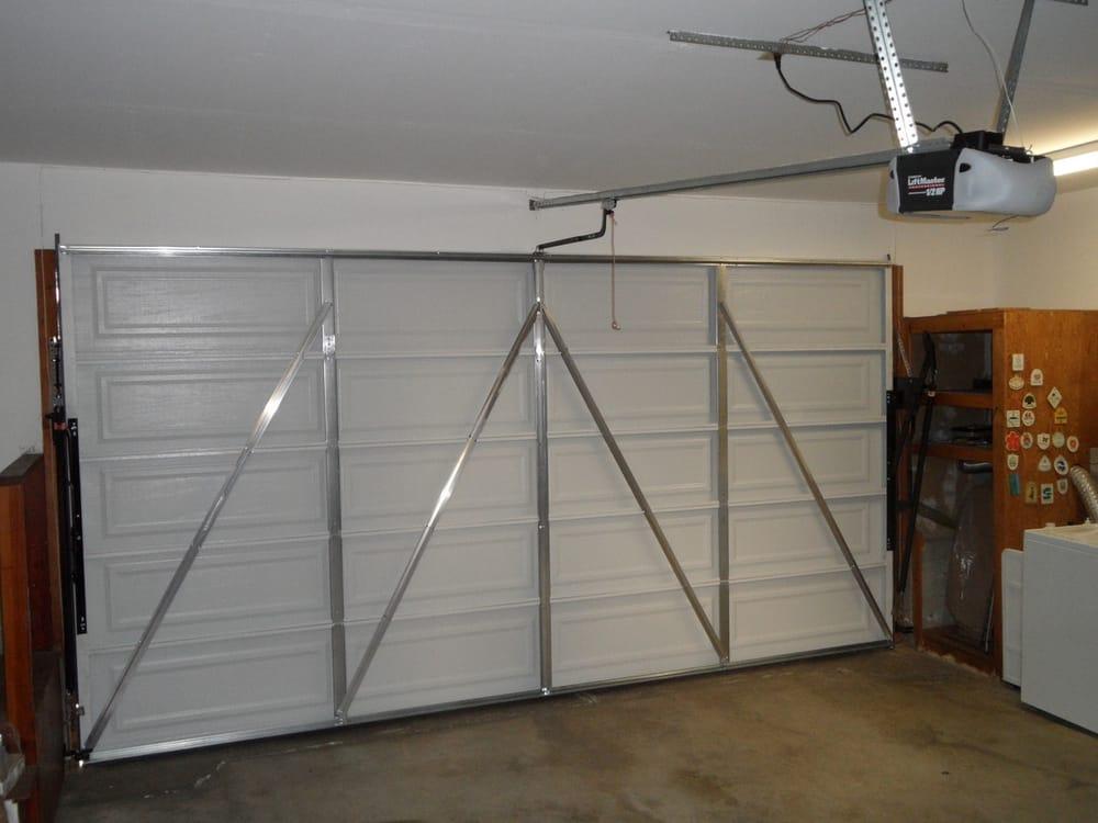 piece metal garage door   garage door operator   yelp