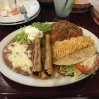 Three time, beef flautas, beef taco, chili rellano