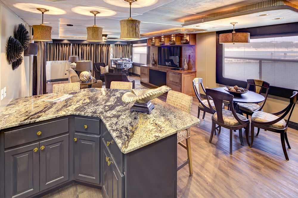 1996 Stardust Houseboat Remodel Interior Design In Austin