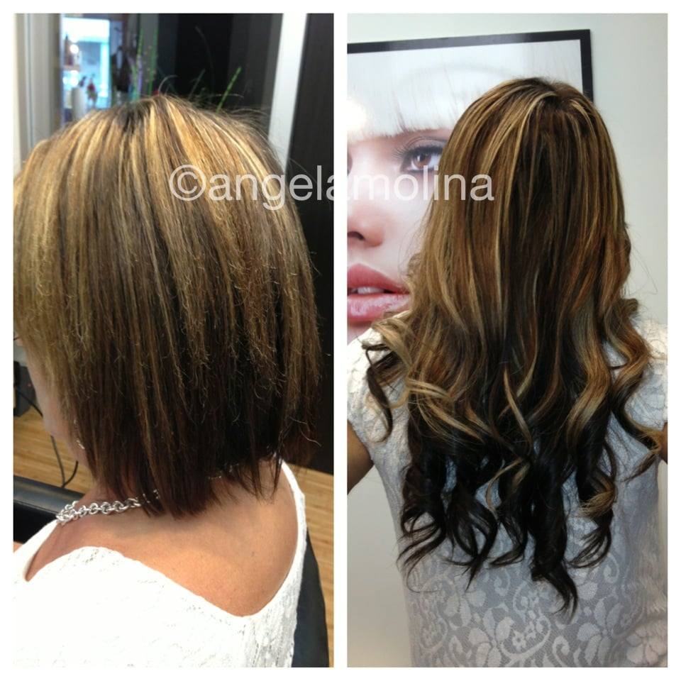 Before And After Hot Heads Tape Extensions Yelp