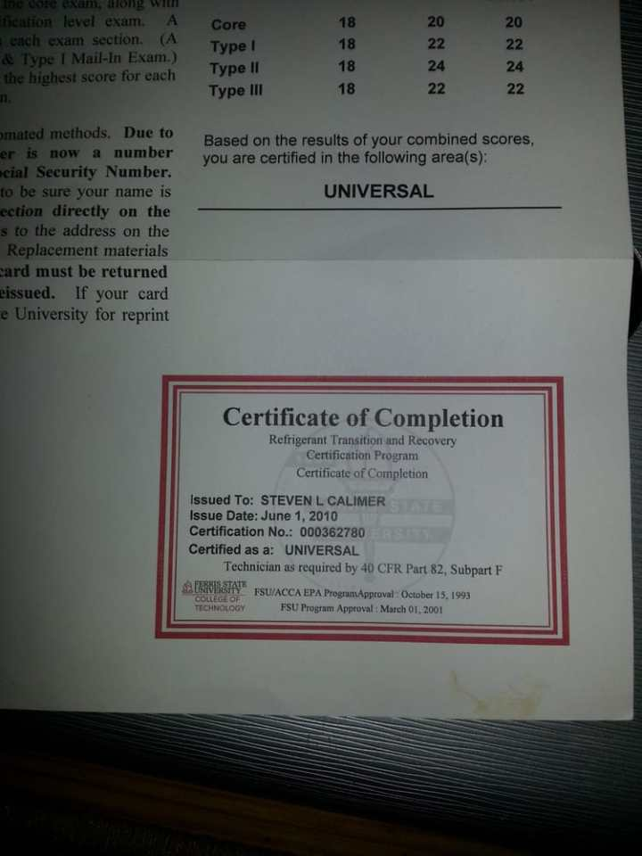 Epa Universal Certification Replacement Card Howtoviews