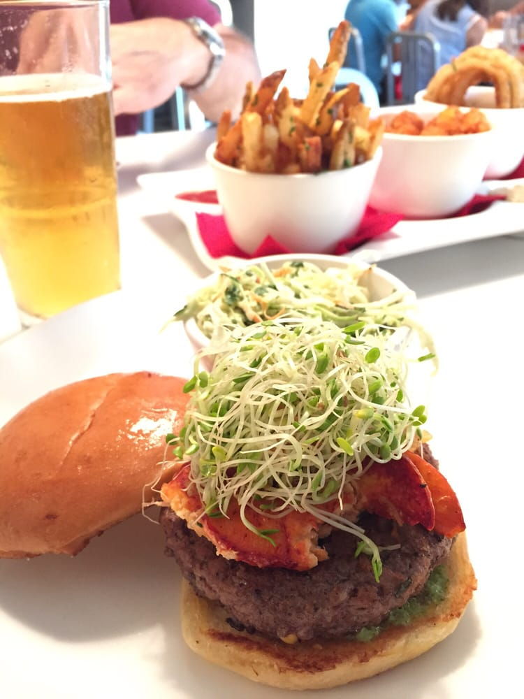 Burger special of the day surf and turf with an Angus