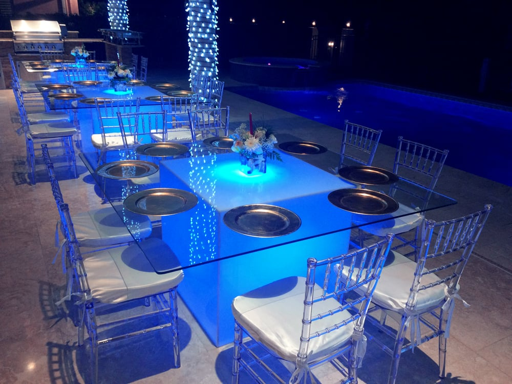 led table and chairs wood lawn tables clear chiavari yelp photo of mk music events miami fl united states