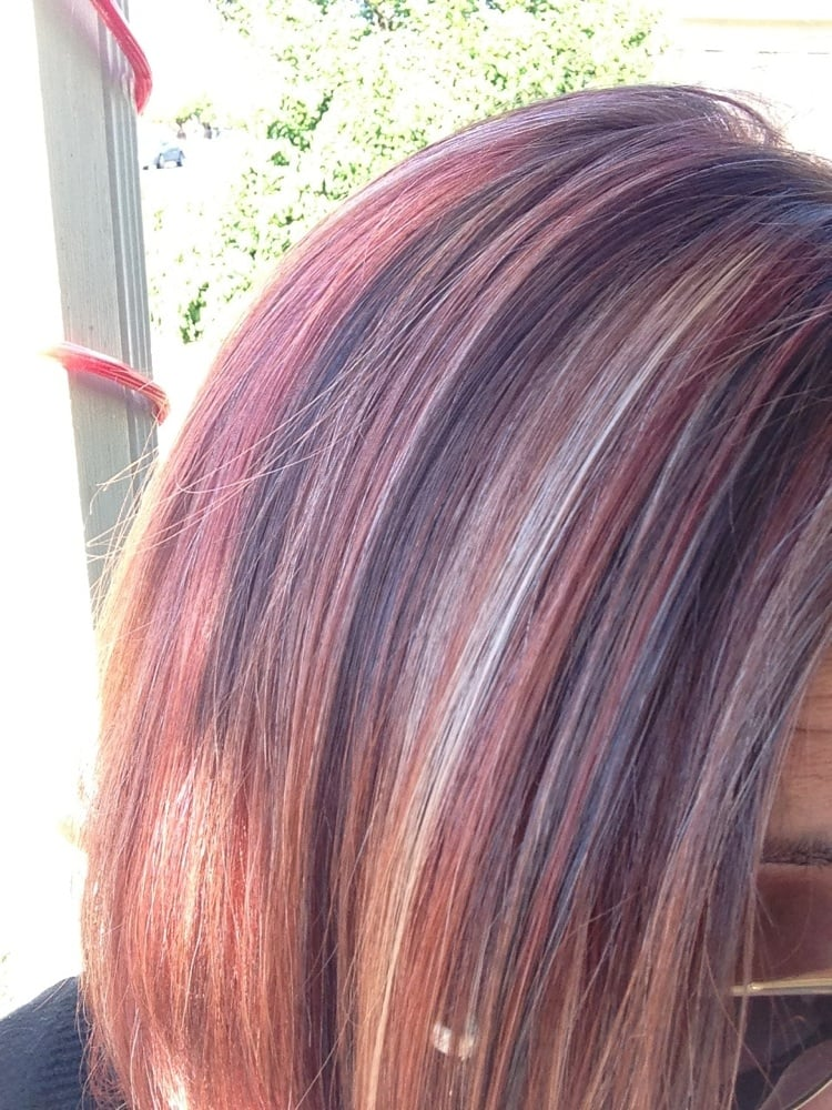 My Hair After 2nd Step Process Of Blonde Highlights With