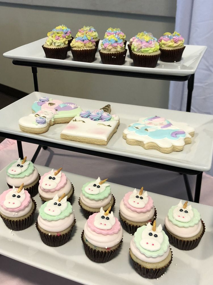 Mini Cupcakes For My Daughters Rainbow Unicorn Themed 1st Birthday