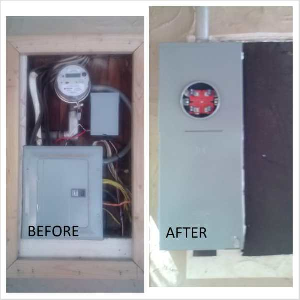 Exposed Wire in Electrical Panel