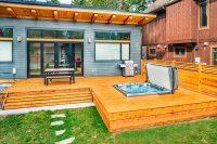 Hot Tub, Deck, Patio, Fence, Wood Deck, Modern Backyard ...