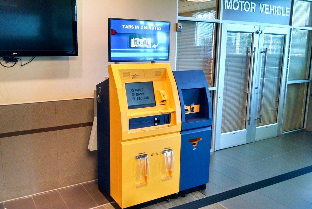 MV Express selfservice kiosk for registration renewals located inside building  Yelp
