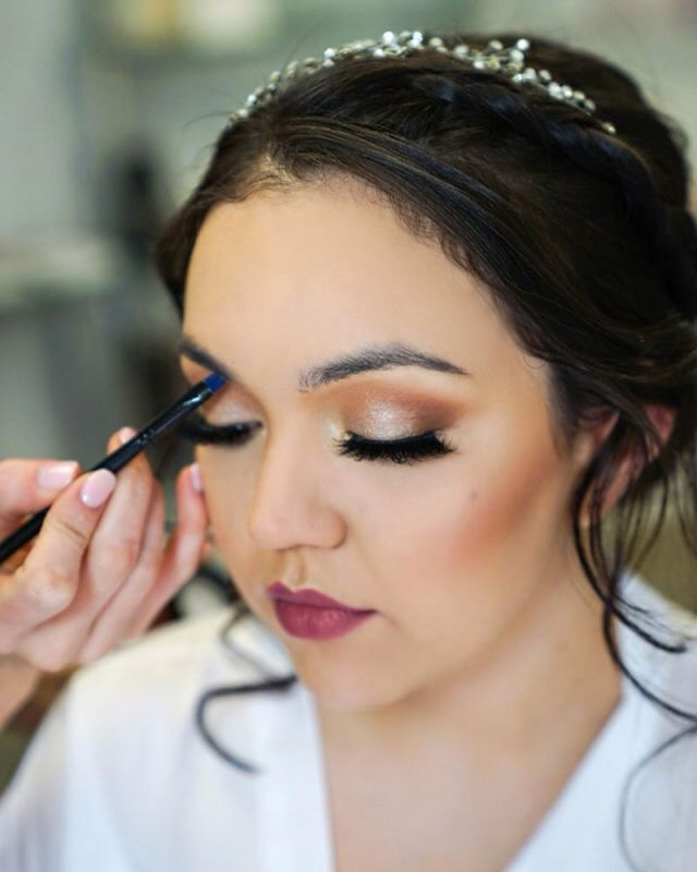 bridal hair and makeup consultation in our private bridal