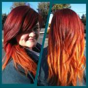 red hot flame ombre. stripping