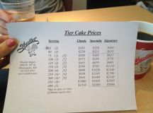 Wuollets website doesn't list prices for tiered/wedding ...