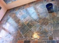This is the lowes brand porcelain slate tile look ...