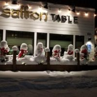 Christmas snow creatures at the Saffron Table in Bozeman ...