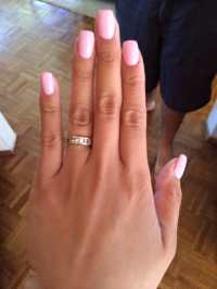 Thin layer of acrylic on top of my natural nails with ...