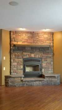 Valcourt FP10 (Lafayette) with a floor to ceiling stone
