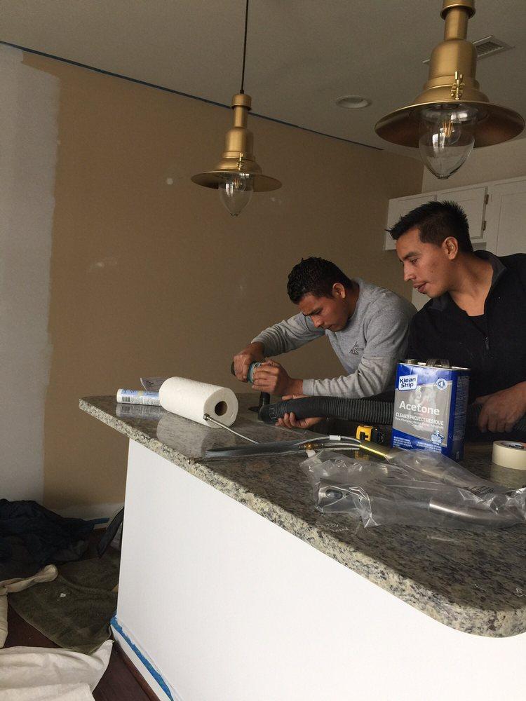 Drilling Granite Counter