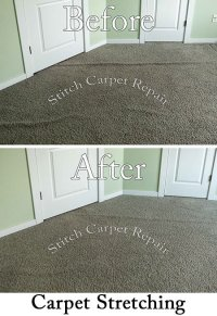 Carpet stretching in a bedroom Proudly serving Austin ...