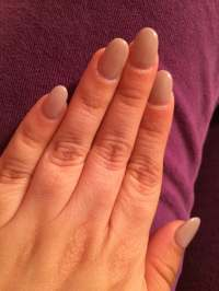 Square round gel nails. The color is p14 - Yelp