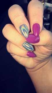 gorgeous unicorn chrome nails