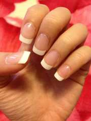 acrylic gel nails with french tips