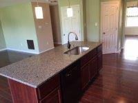 Kitchen Island with undermount sink, granite top ...
