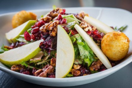 Photo of Brownstone Tavern & Grill - Chicago, IL, United States. Pear & Goat Cheese Salad