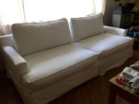 My 17 year old Sofa U Love couch with original white denim ...