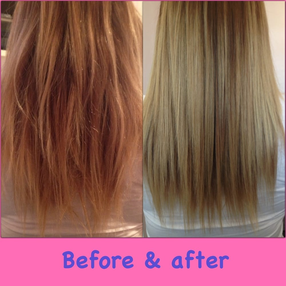 Before And After Brazilian Blowout Split End Repairing