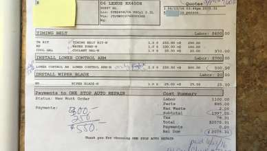 The Work Order Shows Over 400 00 More Charges Than 1600 00 Quote Yelp
