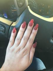 matte red coffin nails nancy