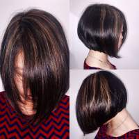 Sunkissed highlights on natural Asian hair with modern A ...