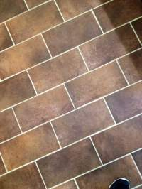 Tile after the cleaning. Nice white grout the homeowners ...