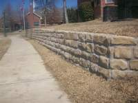 Chopped Milsap stone retaining wall