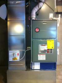 Top of the Line High efficiency Rheem Gas Furnace and A/C