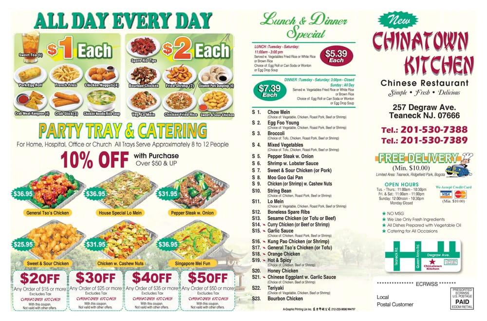 Chinatown Kitchens Current Menu  Yelp