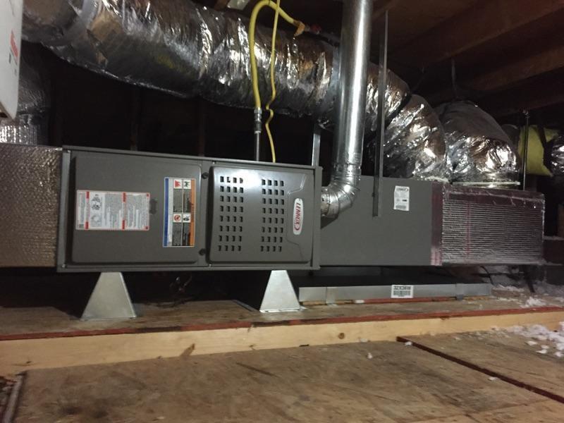 Lennox horizontal furnace installation