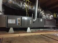 Lennox horizontal furnace installation