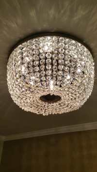 Bling-bling light fixtures at Hotel Mazarin New Orleans | Yelp