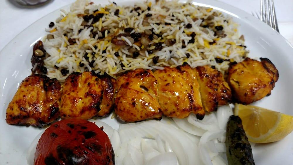 Boneless chicken kabob with adas polo  Yelp