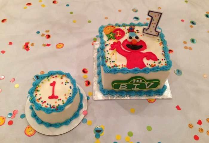 Elmo 1st Birthday Cake And Smash Cake Yelp