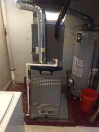 Lennox high-efficiency gas furnace with Central air ...