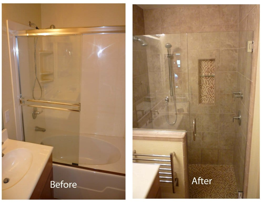 kitchen remodel san jose ikea master shower before and after - yelp