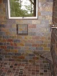 Slate Shower Broken Joint (subway) Pattern