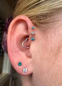 Triple Forward Helix Earring Set Uk - Jewelry Ufafokus.com
