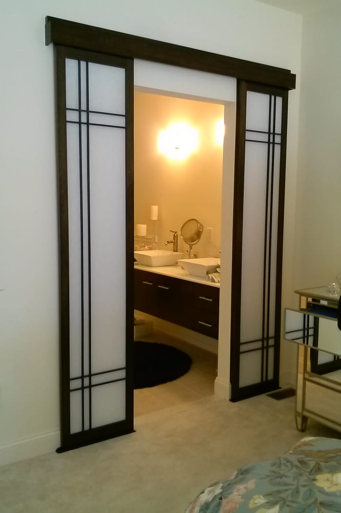 Bathroom entry sliding shoji doors  Yelp