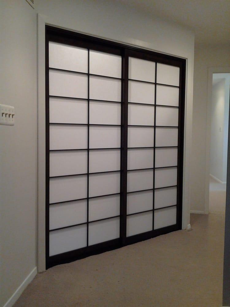 Sliding shoji screen closet doors (shown closed).