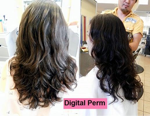 Beach Wave Perm For Straight Hair