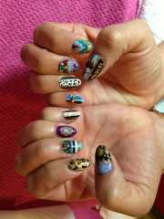 superfly versace themed nails