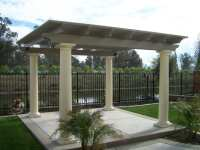 Beautiful freestanding patio cover with roman columns. | Yelp